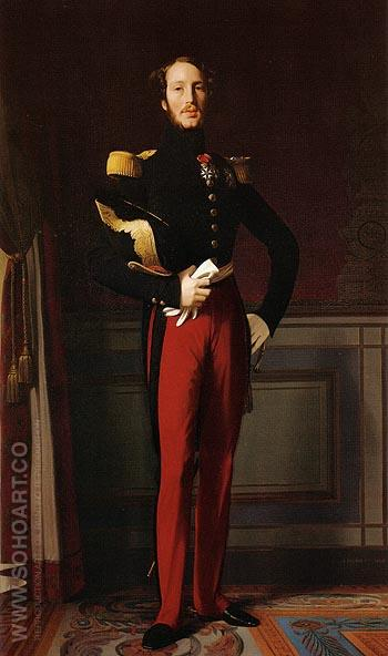 Ferdinand Philippe Louis Charles Henri Duc d Orleans 1844 - Jean-Auguste-Dominique-Ingres reproduction oil painting