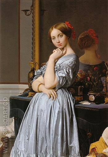 Vicomtesse Othnin d Haussonville 1845 - Jean-Auguste-Dominique-Ingres reproduction oil painting