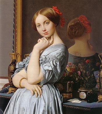Detail of comtesse d Haussonville - Jean-Auguste-Dominique-Ingres reproduction oil painting