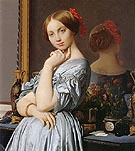 Detail of comtesse d Haussonville - Jean-Auguste-Dominique-Ingres reproduction oil painting