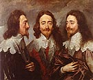 Triple Portrait of Charles I 1635 - Van Dyck
