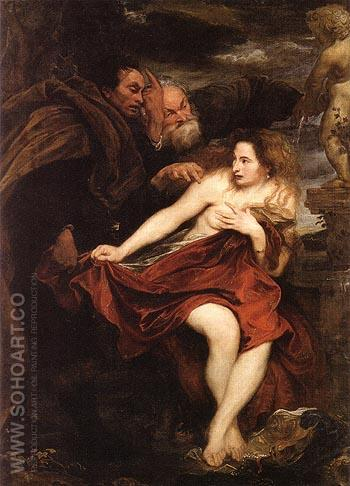 Susanna and the Elders - Van Dyck reproduction oil painting