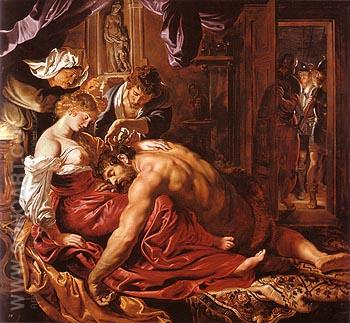 Samson and Delilah 1609 - Van Dyck reproduction oil painting