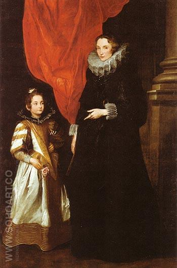 Geronima Sale Brignole and her Daughter - Van Dyck reproduction oil painting