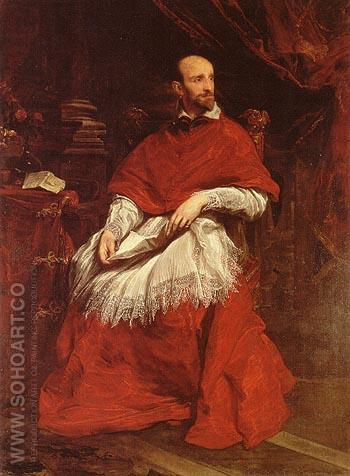Cardinal Bentivoglio 1623 - Van Dyck reproduction oil painting