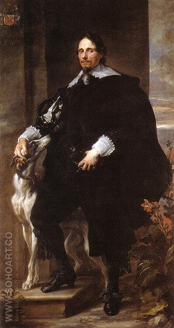 Philippe le Roy Seigneur de Ravels 1630 - Van Dyck reproduction oil painting