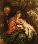 The Rest on the Flght to Egypt 1630 - Van Dyck reproduction oil painting