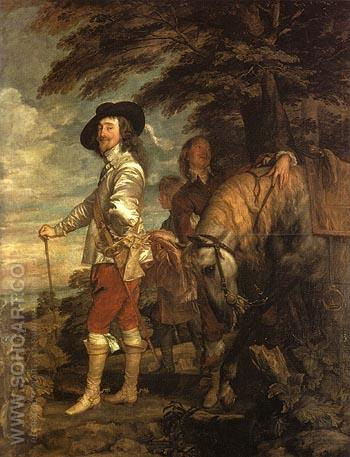 Le Roi a la Chasse 1635 - Van Dyck reproduction oil painting