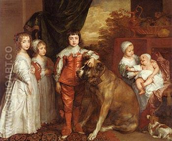 The five Eldest Children of Charles 1637 - Van Dyck reproduction oil painting