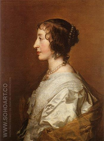 Henrietta Maria - Van Dyck reproduction oil painting