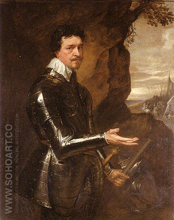 Thomas Wentworth Eari of Strafford - Van Dyck reproduction oil painting