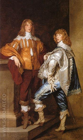 George Lord Digdy and William Lord Russell - Van Dyck reproduction oil painting