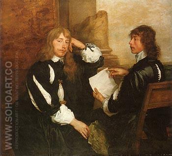 Thomas Killigrew and an Unknown Man 1638 - Van Dyck reproduction oil painting
