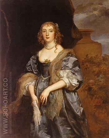 Lady Anne Carr Countess of Bedford - Van Dyck reproduction oil painting