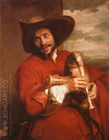 Francois Langlois as a Savoyard - Van Dyck reproduction oil painting