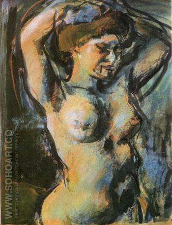 Nude with Upraised Arms 1906 - George Rouault reproduction oil painting