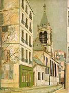 The Church Saint- Severin - Maurice Utrillo reproduction oil painting