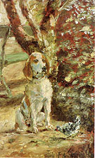 The Artist's Dog Fleche - Henri De Toulouse-lautrec reproduction oil painting