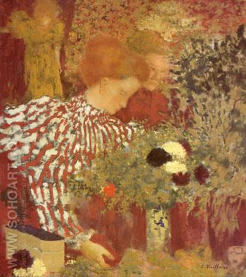 Woman in Striped Dress 1895 - Edouard Vuillard reproduction oil painting