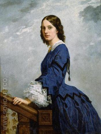 Portrait of Mrs Robert Shaw Sturgis - William Morris Hunt reproduction oil painting