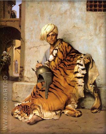 Pelt Merchant of Cairo 1869 - Jean Leon Gerome reproduction oil painting