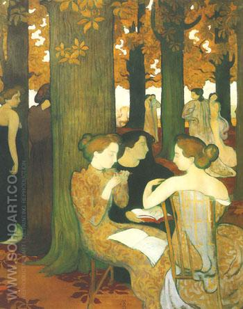 The Muses 1893 - Maurice Denis reproduction oil painting