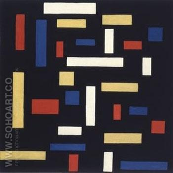 Composition VII The Three Graces - Theo van Doesburg reproduction oil painting