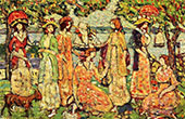 The Idlers c1918 - Maurice Prendergast reproduction oil painting