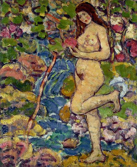 Waterfall c1911 - Maurice Prendergast reproduction oil painting