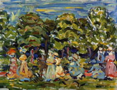 Summer in the Park 1908 - Maurice Prendergast reproduction oil painting
