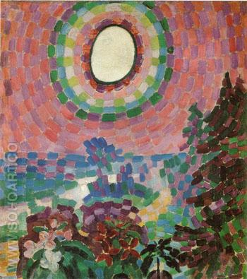 Landscape with Disk 1906 - Robert Delaunay reproduction oil painting