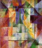 Simultaneous Windows on the City 1912 - Robert Delaunay reproduction oil painting
