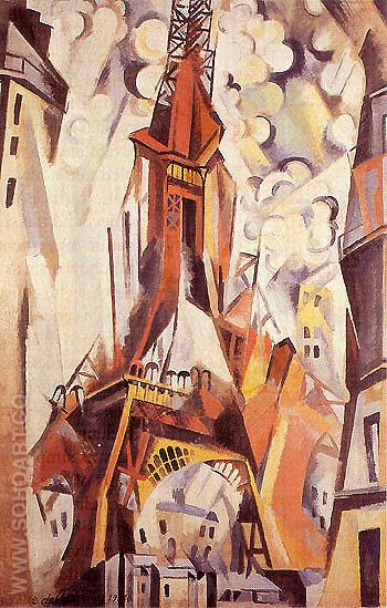 Eiffel Tower c1910 - Robert Delaunay reproduction oil painting