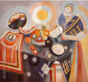 Portuguese Woman or Woman Pouring 1916 - Robert Delaunay reproduction oil painting