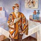 Portrait of Madam Mandel 1923 - Robert Delaunay reproduction oil painting