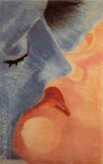 The Kiss 1922 - Robert Delaunay reproduction oil painting