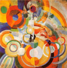 Carousel with Pigs 1922 - Robert Delaunay reproduction oil painting