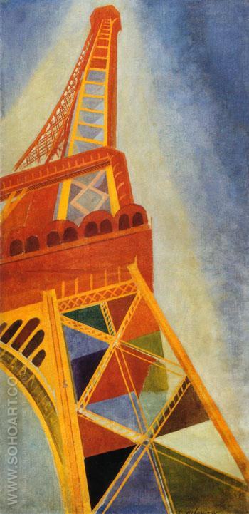 Eiffel Tower 1926 - Robert Delaunay reproduction oil painting