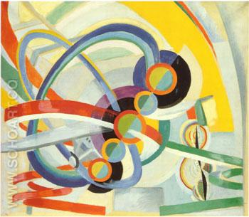 Properller and Rhythm c1937 - Robert Delaunay reproduction oil painting