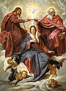 The Coronation of the Virgin 1645 - Diego Velasquez reproduction oil painting