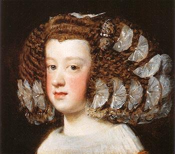 Infanta Maria Teresa 1651 - Diego Velasquez reproduction oil painting