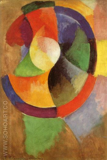 Circular Forms Sun No 2 c1912 - Robert Delaunay reproduction oil painting