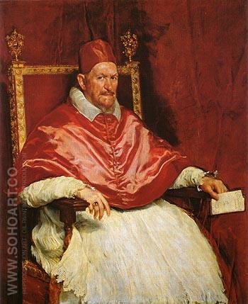 Innocent X 1650 - Diego Velasquez reproduction oil painting