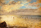 The Sea from the Heights of Dieppe 1852 - F.V.E. Delcroix reproduction oil painting