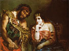 Cleopatra and the Peasant 1838 - F.V.E. Delcroix reproduction oil painting