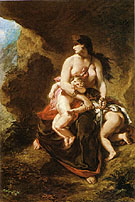 Medea about to Kill her Children 1838 - F.V.E. Delcroix