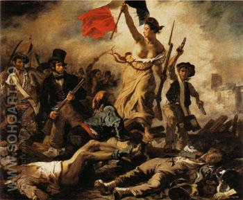 Liberty Leading the People 1830 - F.V.E. Delcroix reproduction oil painting