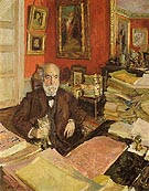 Theodore Duret ni His Study 1912 - Edouard Vuillard reproduction oil painting