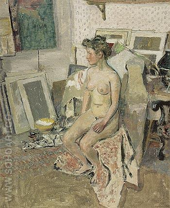 Nude in the Studio c1902 - Edouard Vuillard reproduction oil painting