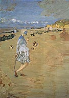 Annette on the Beach at Villerville 1910 - Edouard Vuillard reproduction oil painting